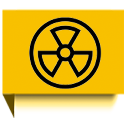 yellow flag of nuclear icon