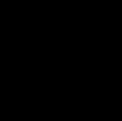 black icon of demolition tractor